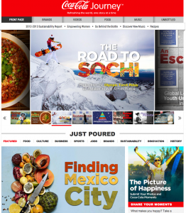 Coca-Cola Journey Digital Magazine
